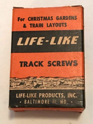 T13 ORIGINAL LIFE LIKE MODEL TRAINS VINTAGE S 404 R PACK OF TRACK SCREWS IN BOX
