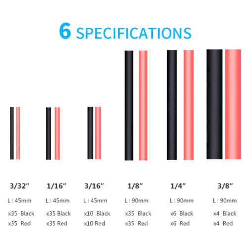270pcs Waterproof 3:1 Dual Wall Heat Shrink Sleeve Tubing Assortment Kit