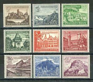 THIRD-REICH-1939-Mi-730-738-mint-MNH-Winterhilfswerk-stamp-set-CV-72-50