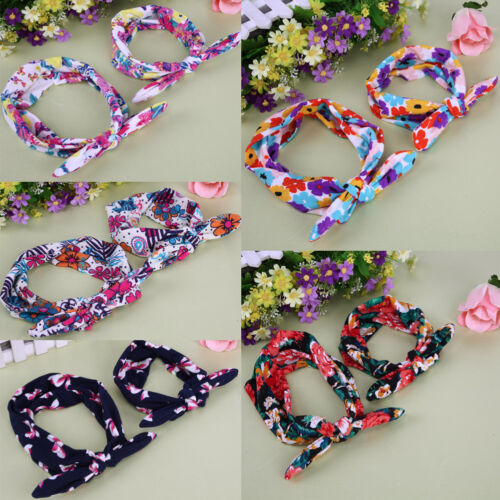 Mom and Me Cooton Headband Flower Turban Baby Headwrap Hairband Hair Accessories