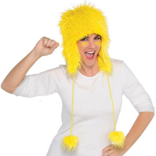 Fuzzy Hat Furry Crazy Game Day Fancy Dress Halloween Costume Accessory 7 COLORS