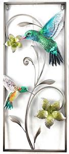 Metal Hummingbird Wall Decor 3D Art Sculpture Hanging ...