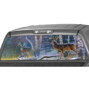 Deers In A Forrest Window Graphic Tint Decal Sticker Truck