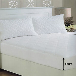 Extra-Deep-Fitted-Quilted-MicroFibre-Mattress-Protector-Anti-Allergy-amp-Dustmite