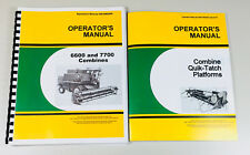 Operators Manual For John Deere 6600 7700 Combine W Quick Tatch Platforms Owners