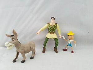 Shrek-Bundle-Of-3-Figures-Human-Donkey-Pinocchio