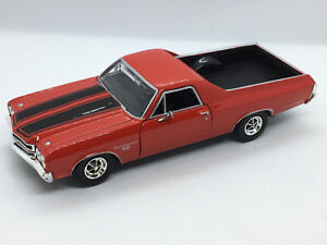 1970 Chevy El Camino SS 396 Pickup Die-cast Car 1:24 Motormax 8 inches Red