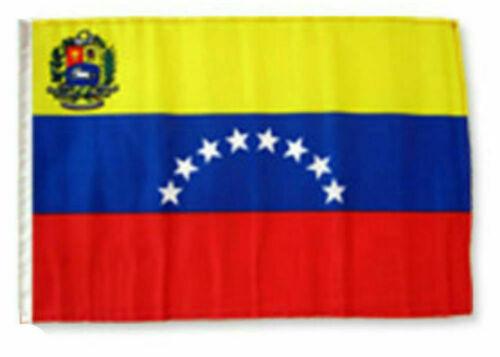 "12x18 12/""x18/"" Venezuela 8 Star Sleeve Flag Boat Car Garden"
