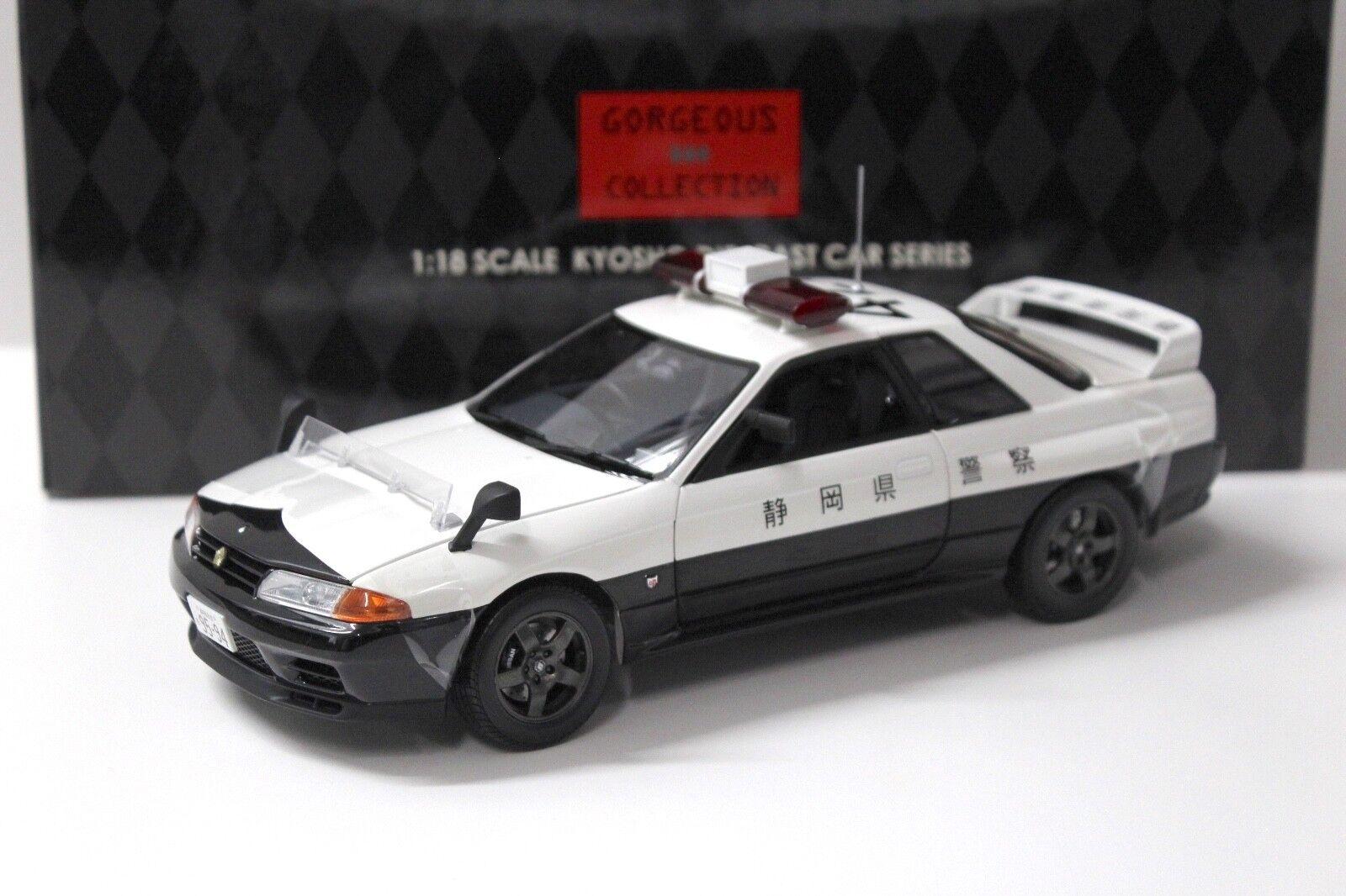 1 18 Kyosho Nissan Skyline GT-R R32 Shizuoka Police 421 NEW in Premium Car