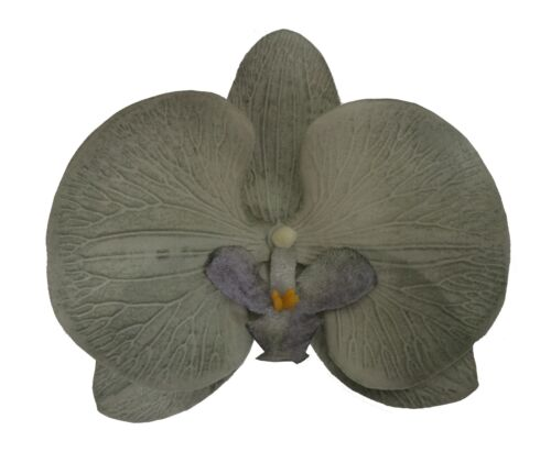 NEW Beautiful Embossed Velvet Orchid Hair Clip UK Seller 14 Unusual Colours
