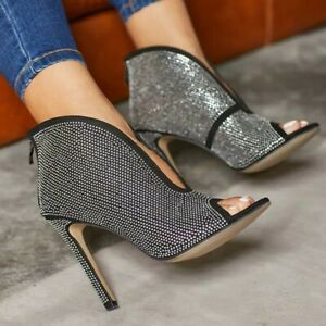 Womens-Sexy-Slim-High-Heels-Rhinestone-Peep-Toe-Stiletto-Shoes-Party-Nightclub
