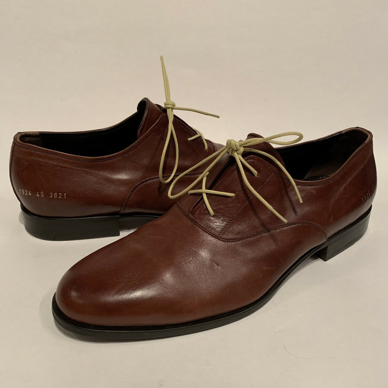 Common Projects Oxford Brown Calf Leather Officer Derby Size 12   45