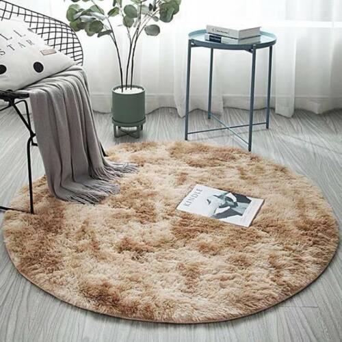Round Circle Non Slip Floor Small Rug Living Room Bedroom Soft Fluffy Carpet Mat