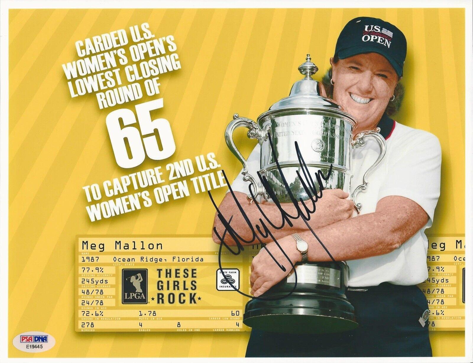 Meg Mallon LPGA Golf signed 8x10 photo PSA/DNA #E19445