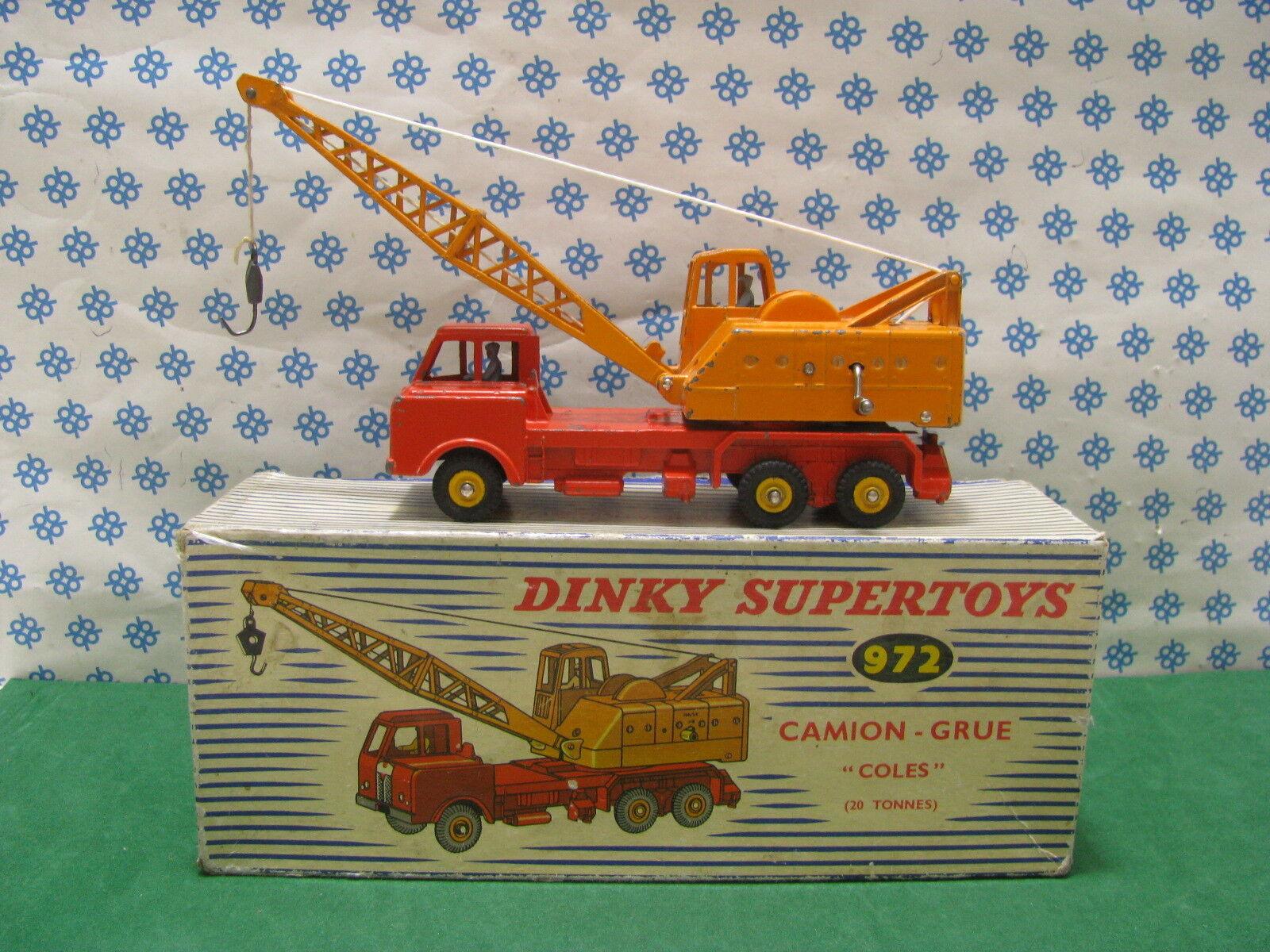 Vintage - 20 Ton Monté sur Camion Crane - Dinky Supertoys 972 Assemble Fr France