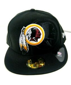 Washington Redskins New Era Cap 59fifty Fitted Hat Black NFL16 Size ... 0956cb6dd