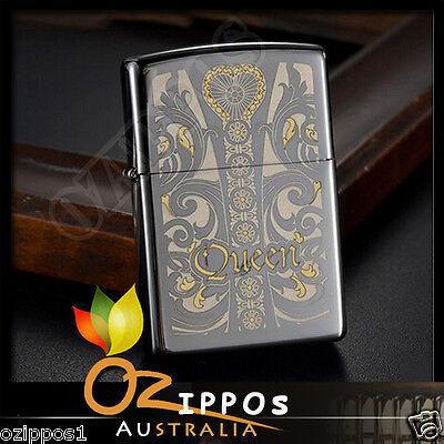Zippo Lighter Queen Venetian Laser Engrave   --- Free Shipping in Australia