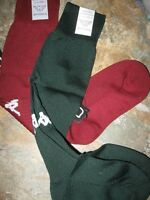 Kids Kappa Sports Sock 01 Soccer Maroon Or Dark Green Serie B Calza Italy
