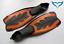 Rough-Waters-Schuhflossen-Flossen-Speedy-orange-schwarz-RW-Schnorchelflossen-NEU