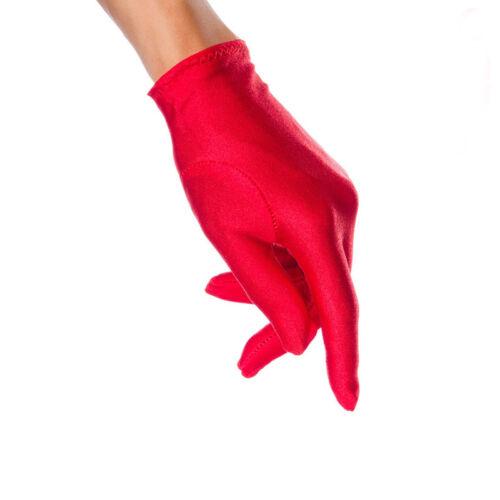 ILAVO® Kurze Satin-Handschuhe passend zu Dessous oder Kostümen rot ZM17-21
