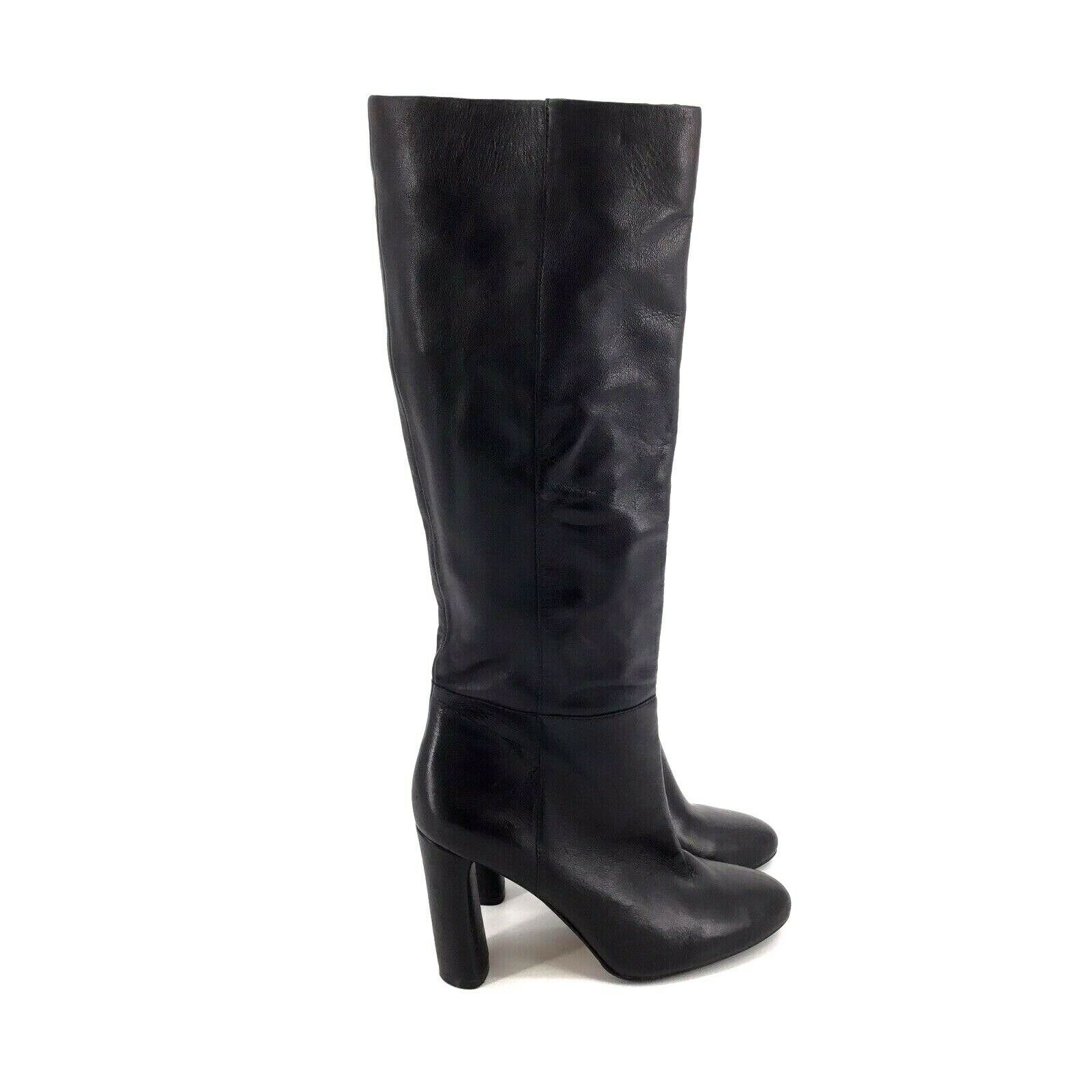 Vince Camuto Femmie Black Leather Tall Shaft Boots Womens Size 7 US - NWOB