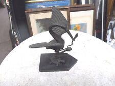 Antique Japanese bronze sculpture crane on turtle