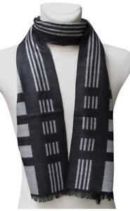 Echarpe-collection-homme-noir-et-gris-174-x-30-cm
