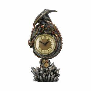 Figur-Drache-Steampunk-Uhr-Clockwork-Reign