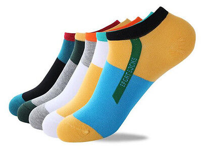 Fashion Mens Ankle Socks Low Cut Crew Casual Sport Color Cotton Socks 1 Pairs