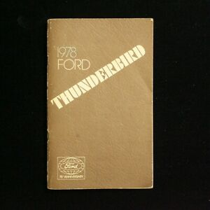 1978-Ford-Thunderbird-75th-Anniversary-Operators-Owners-Manual