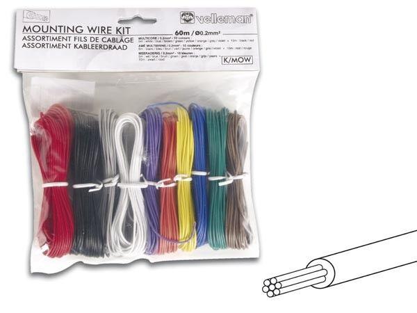 10 Color Stranded 24 Gauge Electrical Wire Kit 196ft Total   eBay