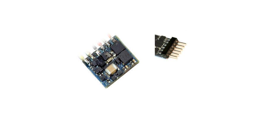 Esu 53665 2 STK LokPilot nano estándar DCC descodificador 6-pol conector 651 un nuevo embalaje original