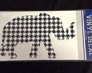 University of Alabama Houndstooth Elephant Vinyl Decal