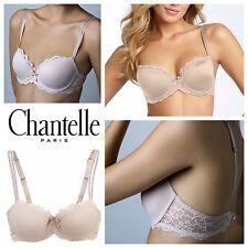 Chantelle Rive Gauche 3086 Underwire T-Shirt Bra 36DDD Lace PREOWNED nude beige