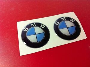 2 Adesivi Resinati Stickers 3d Bmw30 Mm