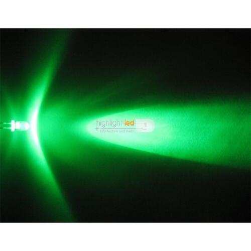 """Widerstand 20 LEDs 5mm Grün Typ /""""WTN-5-8000gr/"""" green groen vert verde grüne LED"""
