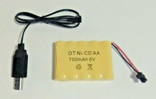 WPL C24 C14 1:16 RC Battery /& Charger 700Mah 6V Ni-cd AA Free USA Shipping!!!