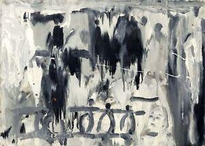 Russischer-Realist-Expressionist-Ol-Leinwand-034-Regen-034-70x50-cm