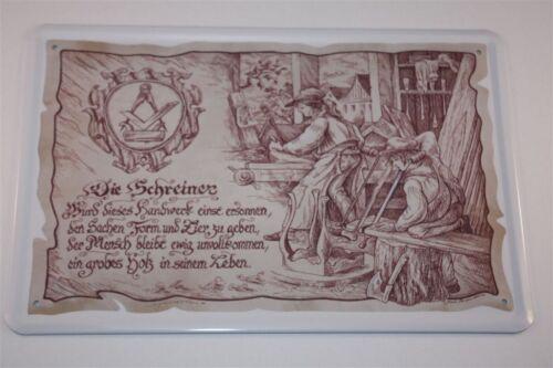Der Schreiner  20x30 cm Berufschild Blechschilder  20 Tischler Blechschild