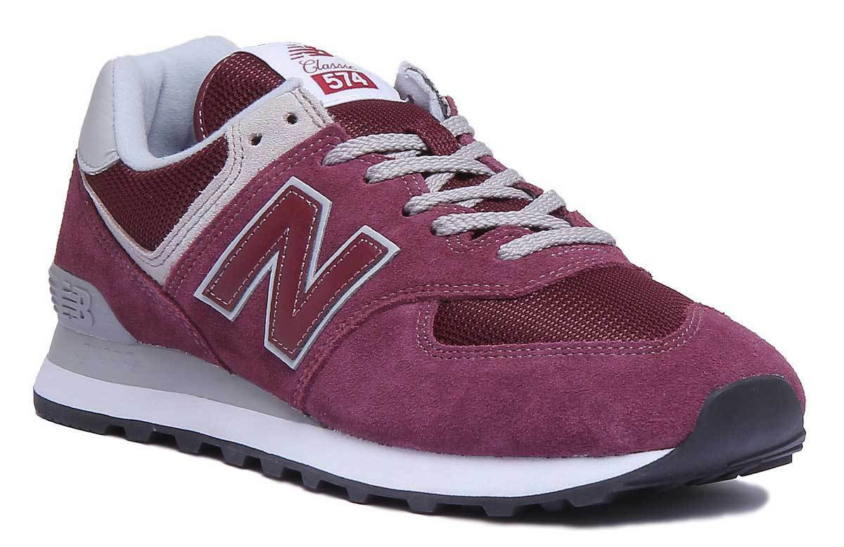 New Classic Balance ML574EGB Vintage Classic New Men Burgundy Trainers 7.5-13 17f7e3