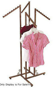 3 Way Clothes Display Rack in Cobblestone Finish 48-72 Inches