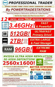 DELL-Trading-Computer-6Monitor-XeonMaxTurbo3-46GHz-512GBSSD-2TBHDD-96GBRAM-W10P
