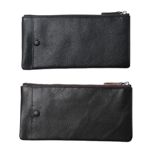 Genuine Leather Handmade Vintage Mens Wallet Card Holder Purse Phone Case Clutch