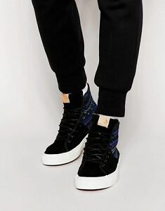1b83e07a6312 Vans SK8 Hi-Decon Sport CA (Italian Weave) Blue Black-Men s Shoes ...