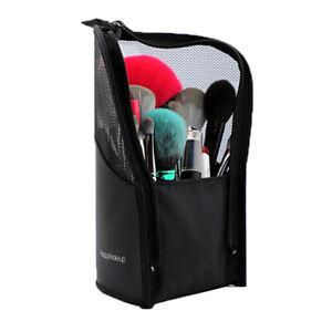 travel makeup brush cup holder organizer bag cosmetic