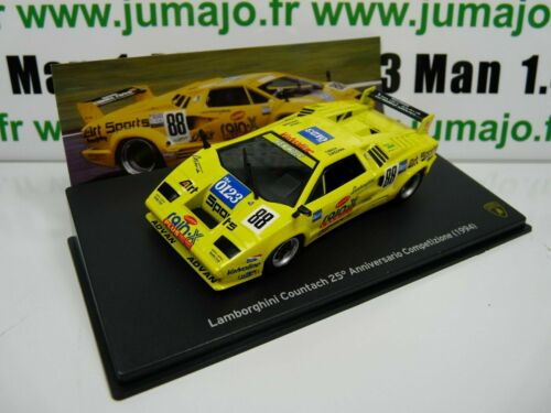LB70O voiture 1//43 IXO LAMBORGHINI  COUNTACH 25°anniversaire compétition 1994