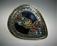 Tribal Ring Schwarzer Tribal Nomaden Ring, Laghman Tribal Ring, Handarbeit 21 mm