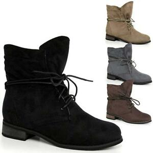 Pixie Ladies Boots Heel Faux Womens Ankle Boho Booties Suede Low Mid YqOrnqp