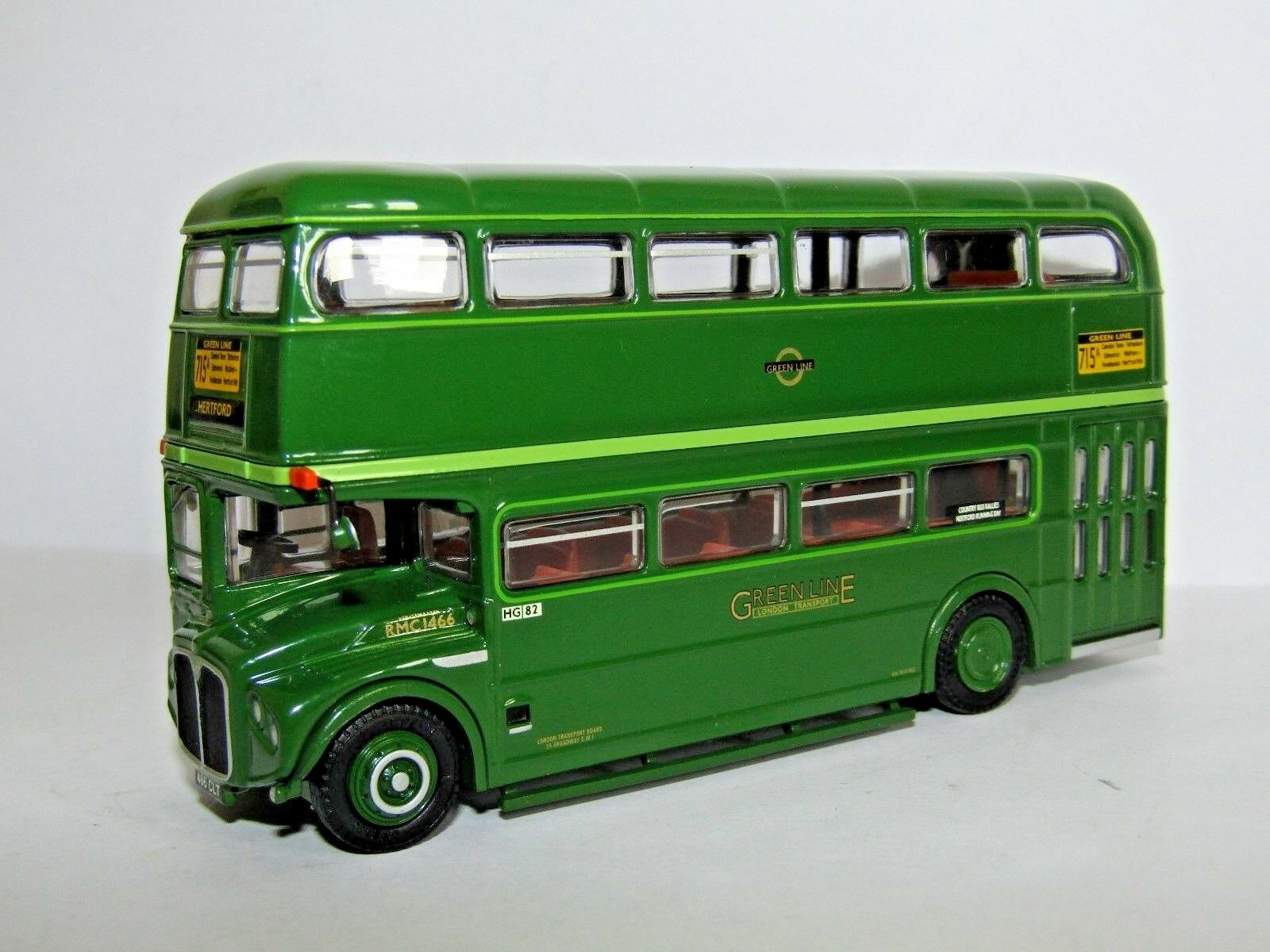 EFE RMC ROUTEMASTER GREEN LINE ROUTE 715A HERTFORD 2007 1 76 HG07 LBRT CODE 3