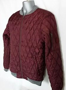 Image is loading Lee-Cooper-Mens-Quilted-Bomber-Jacket-Ribbed-Cuffs- 816f4e12ca